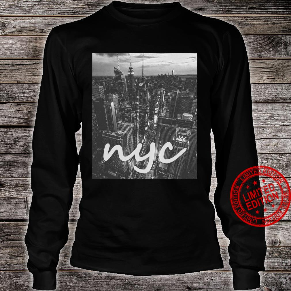 Urban NYC, New York City Skyline Shirt long sleeved