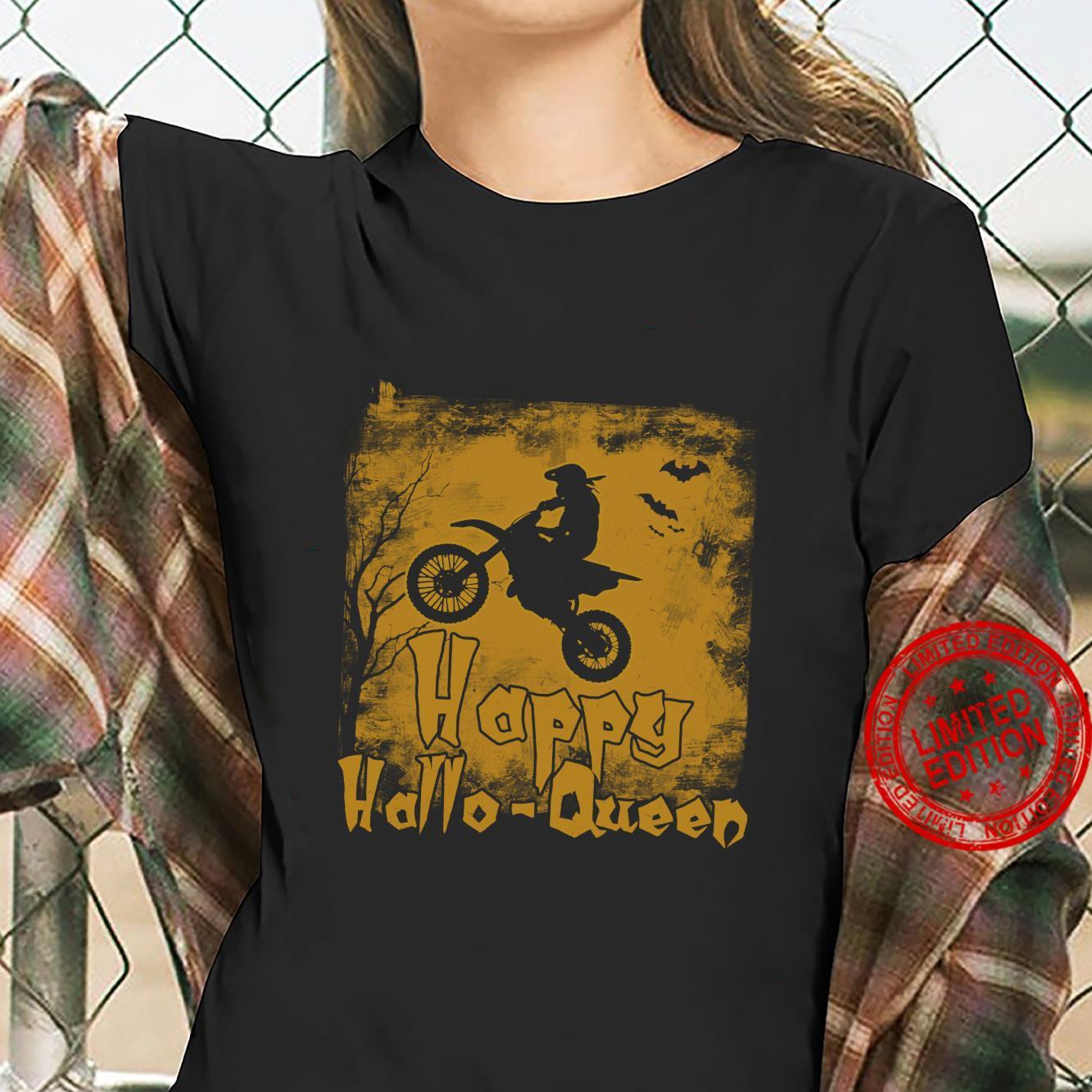 Women Motocross Happy Hallo-Queen Shirt ladies tee
