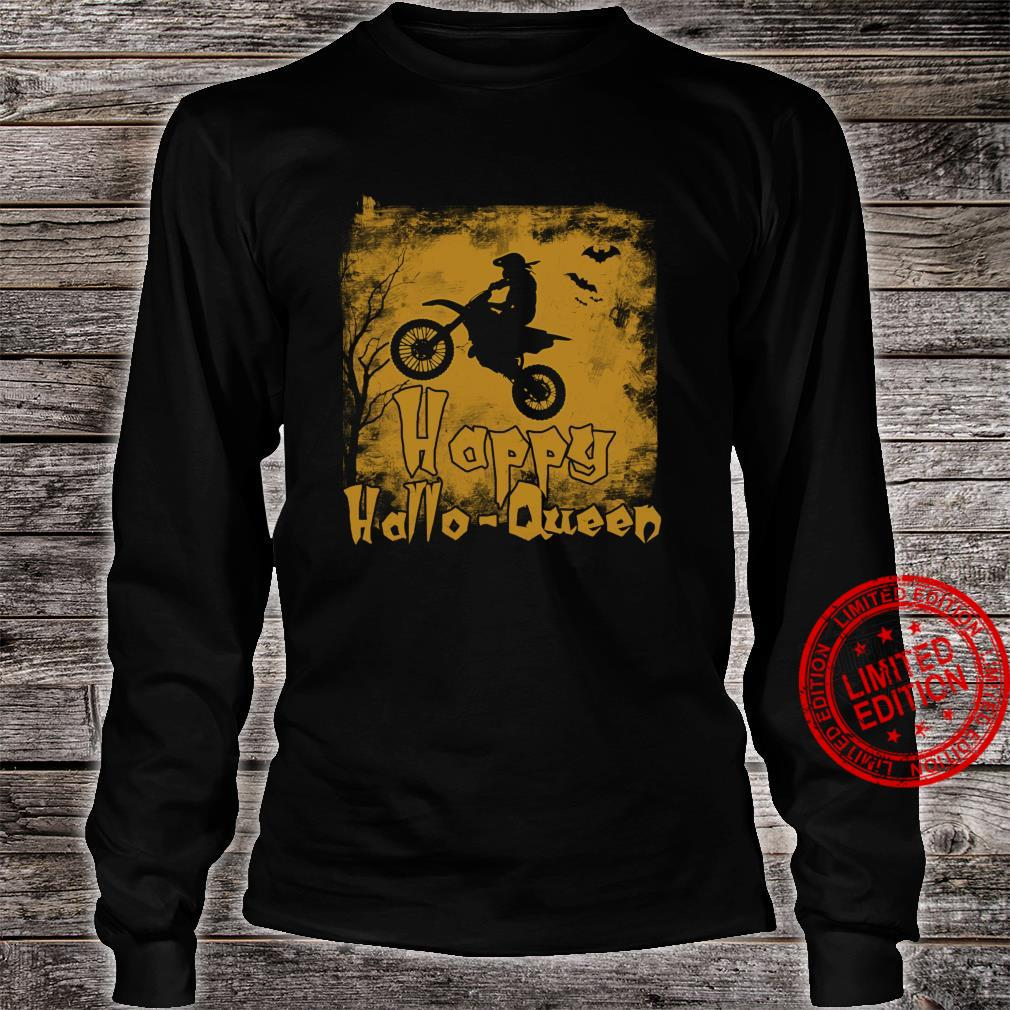 Women Motocross Happy Hallo-Queen Shirt long sleeved
