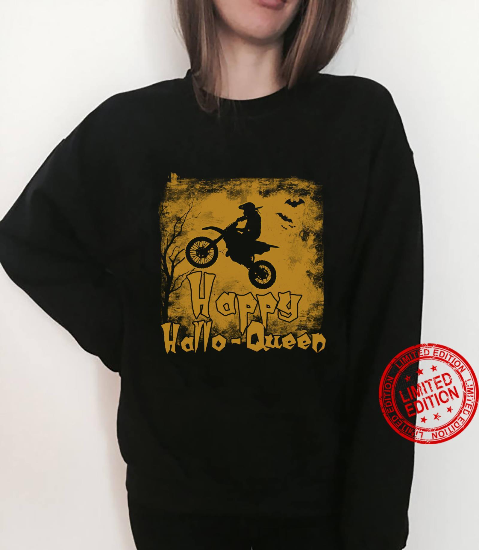 Women Motocross Happy Hallo-Queen Shirt sweater