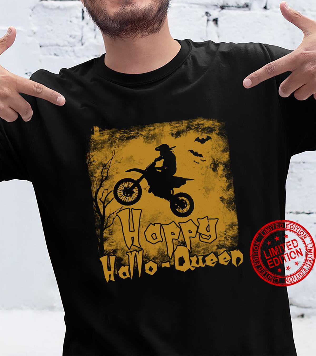 Women Motocross Happy Hallo-Queen Shirt